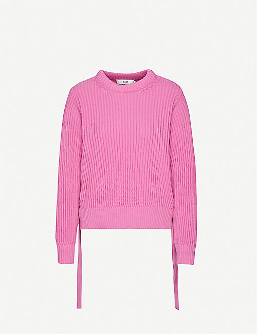 B+AB High-neck cotton-knitted jumper