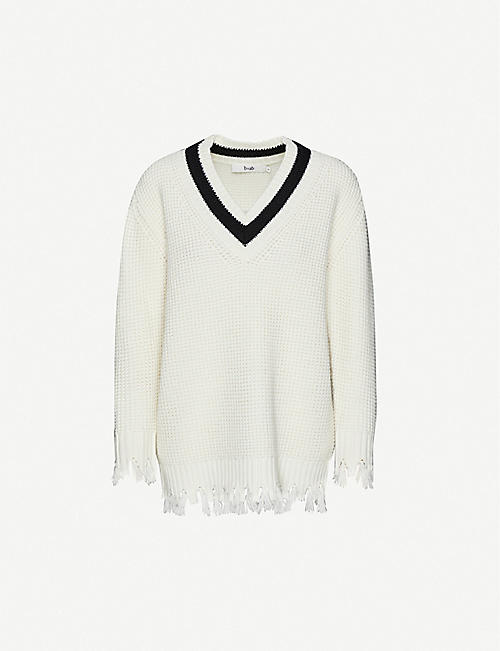 B+AB V-neck wool-blend jumper