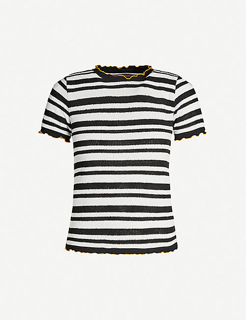 B+AB Striped knitted top
