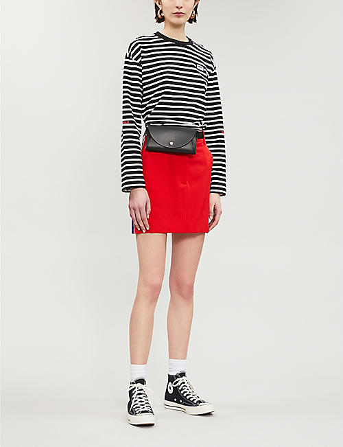 MUSIUM Inhale Exhale striped cotton-jersey top