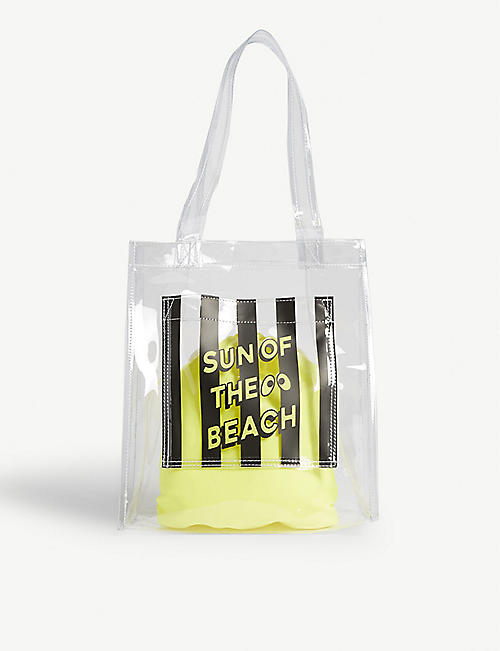 MINI CREAM Clear pvc tote bag