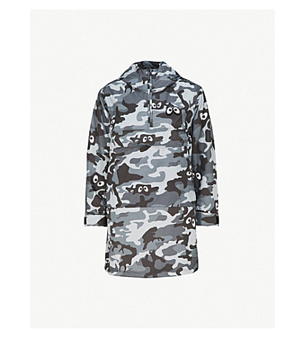 8374de824a917 MINI CREAM - Camouflage-print hooded shell jacket | Selfridges.com
