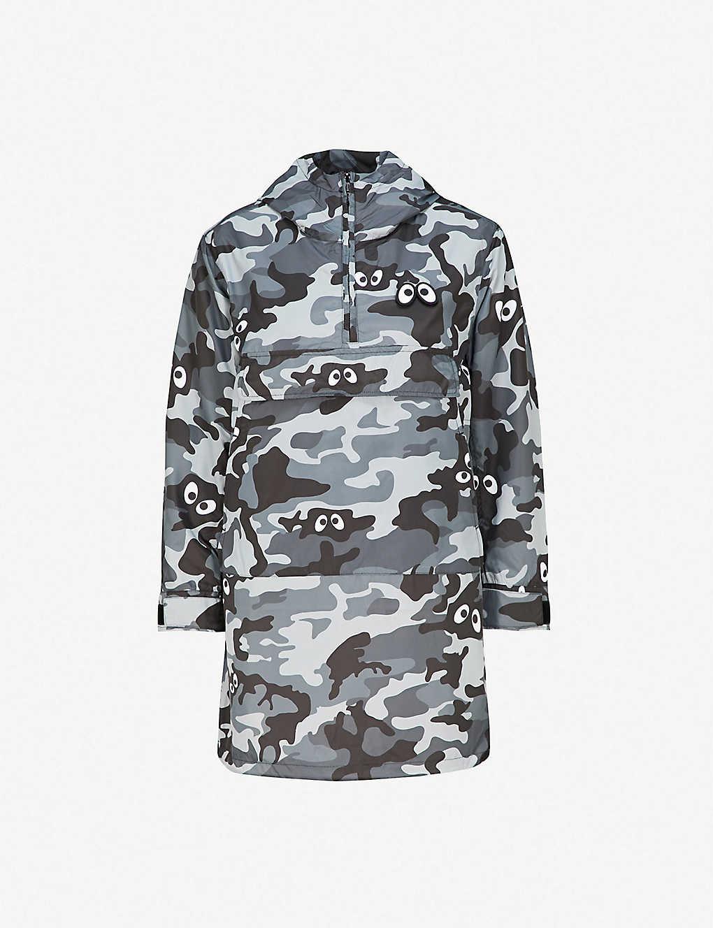 19300d8c710e5 MINI CREAM - Camouflage-print hooded shell jacket | Selfridges.com