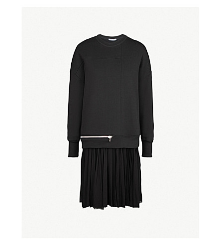 aaaa7f898ac8 ALEXANDER MCQUEEN Pleated-hem cotton-jersey dress (Black