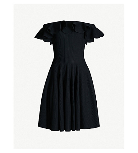 dd5b56a9045 ALEXANDER MCQUEEN - Off-the-shoulder knitted mini dress