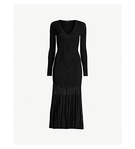 ccf54e3be5d ALEXANDER MCQUEEN - Mesh-panel knitted dress