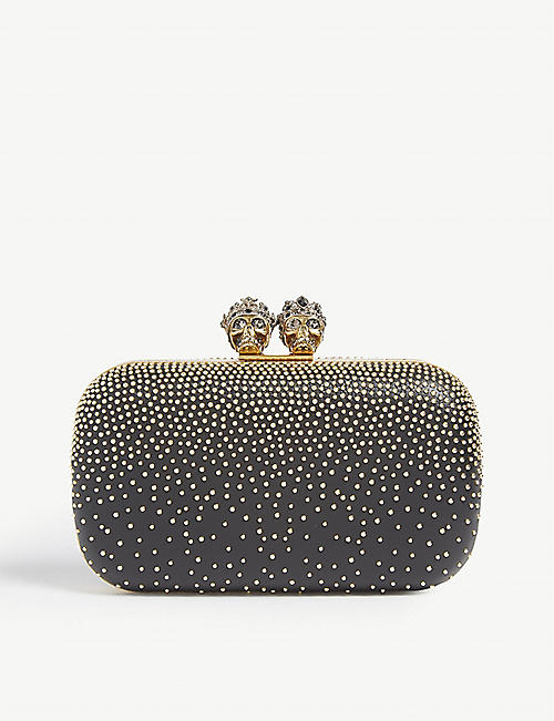536df7cd8f ALEXANDER MCQUEEN Queen and king embellished leather clutch