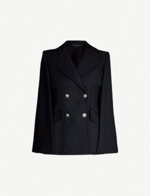 ALEXANDER MCQUEEN Cape-back double-breasted wool-blend jacket