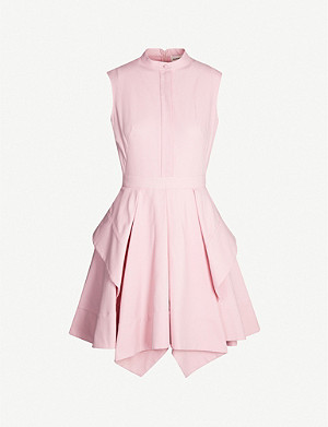 ALEXANDER MCQUEEN Panelled cotton-pique mini dress