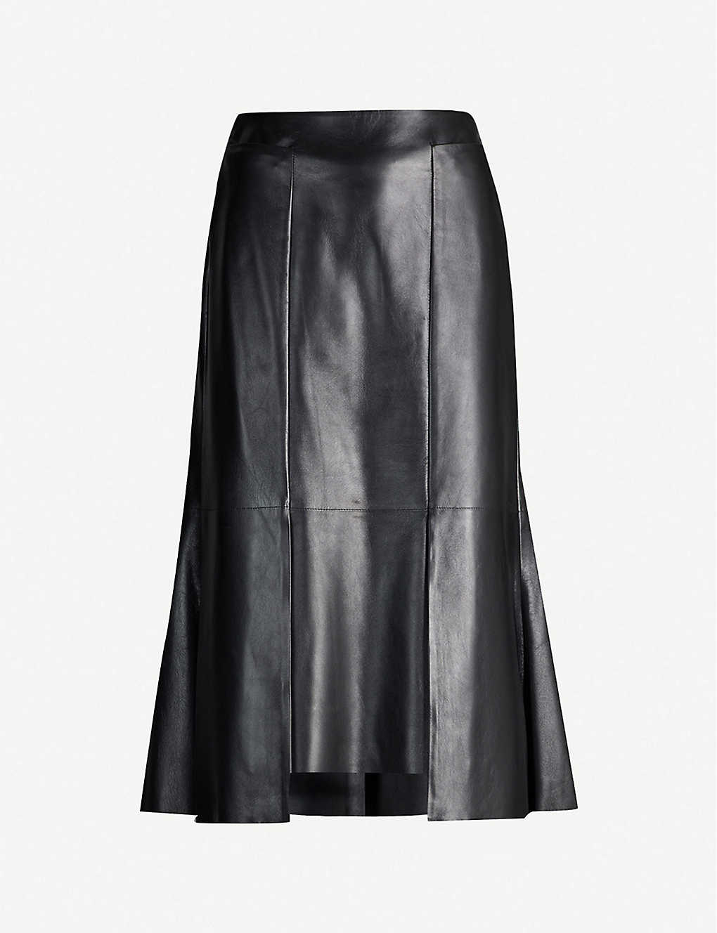0db8b4815 ALEXANDER MCQUEEN - High-waisted leather midi skirt | Selfridges.com