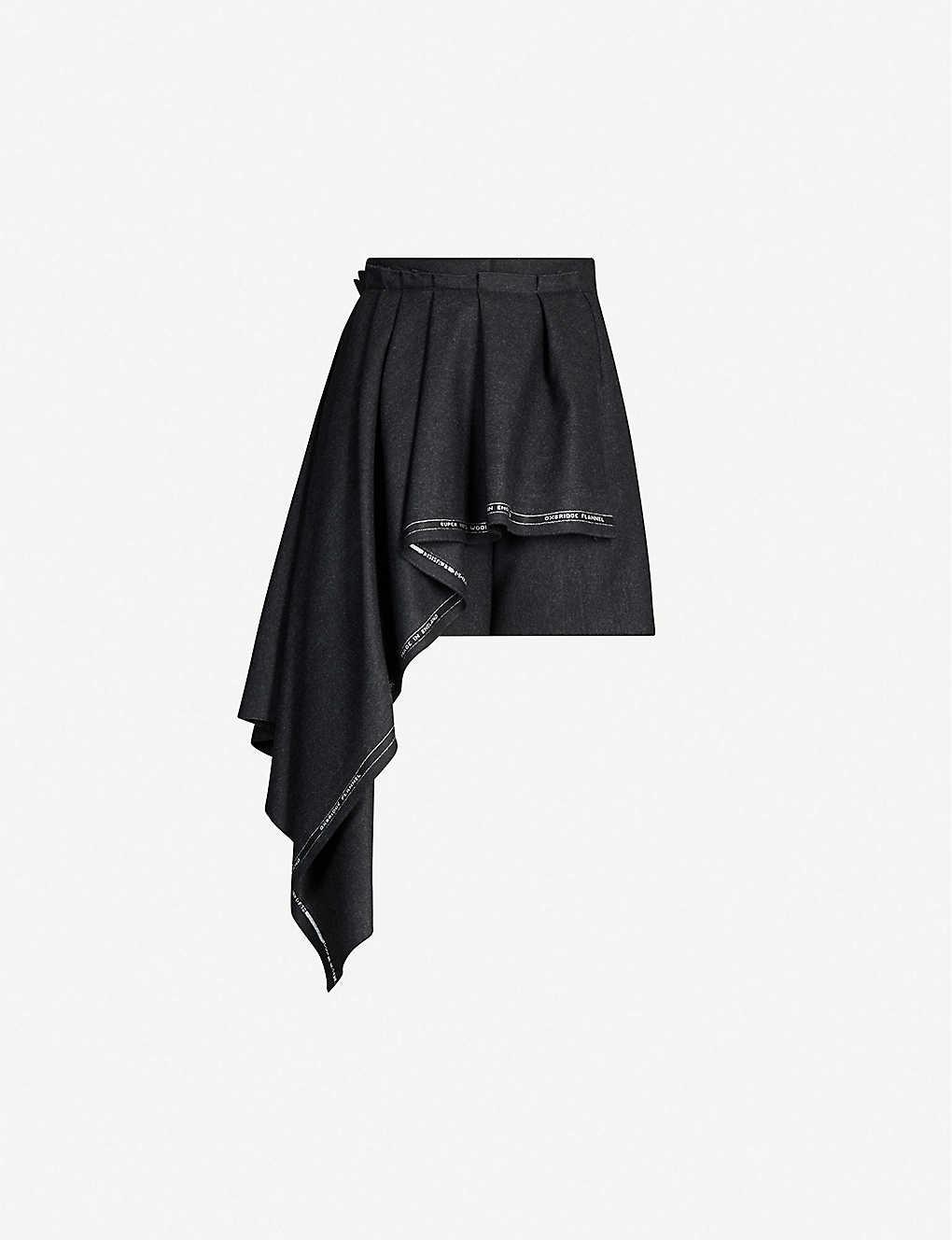 Alexander Mcqueen Pants High-rise wool shorts