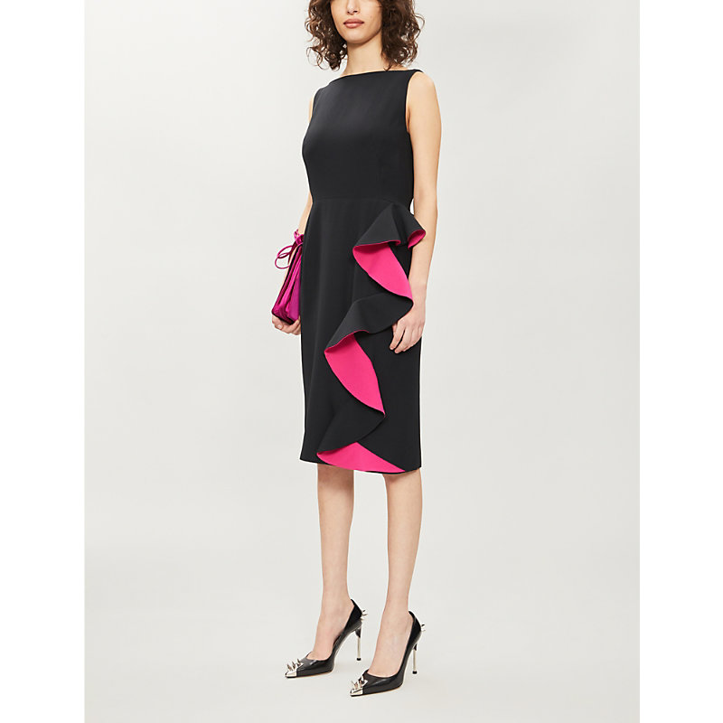 Alexander Mcqueen Dress RUFFLED CREPE MIDI DRESS