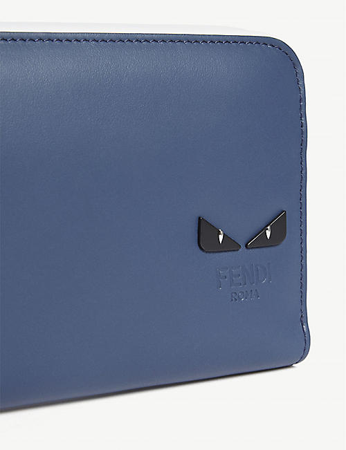 FENDI Monster eyes leather continental wallet