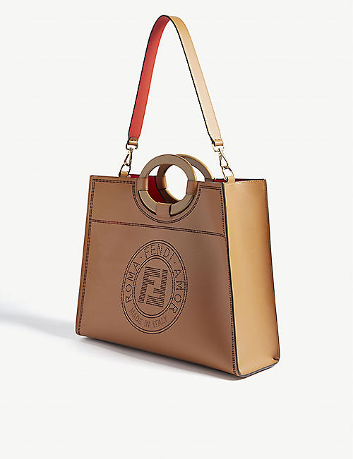 FENDI Runway leather shopper