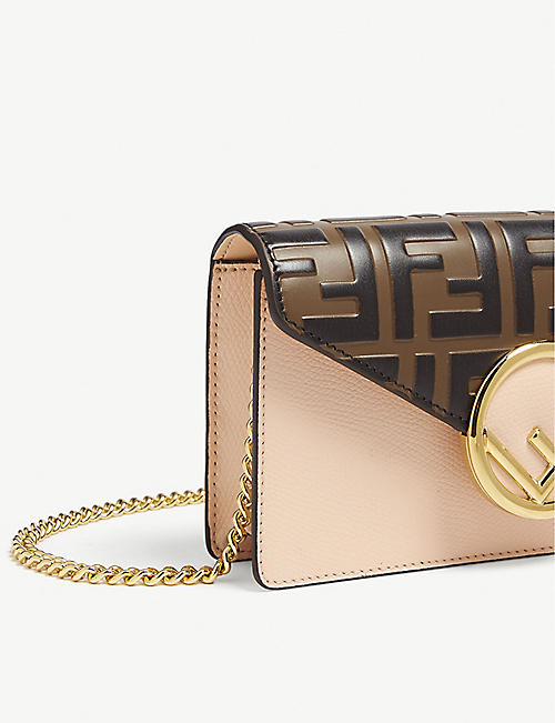 FENDI FF logo leather leather belt bag