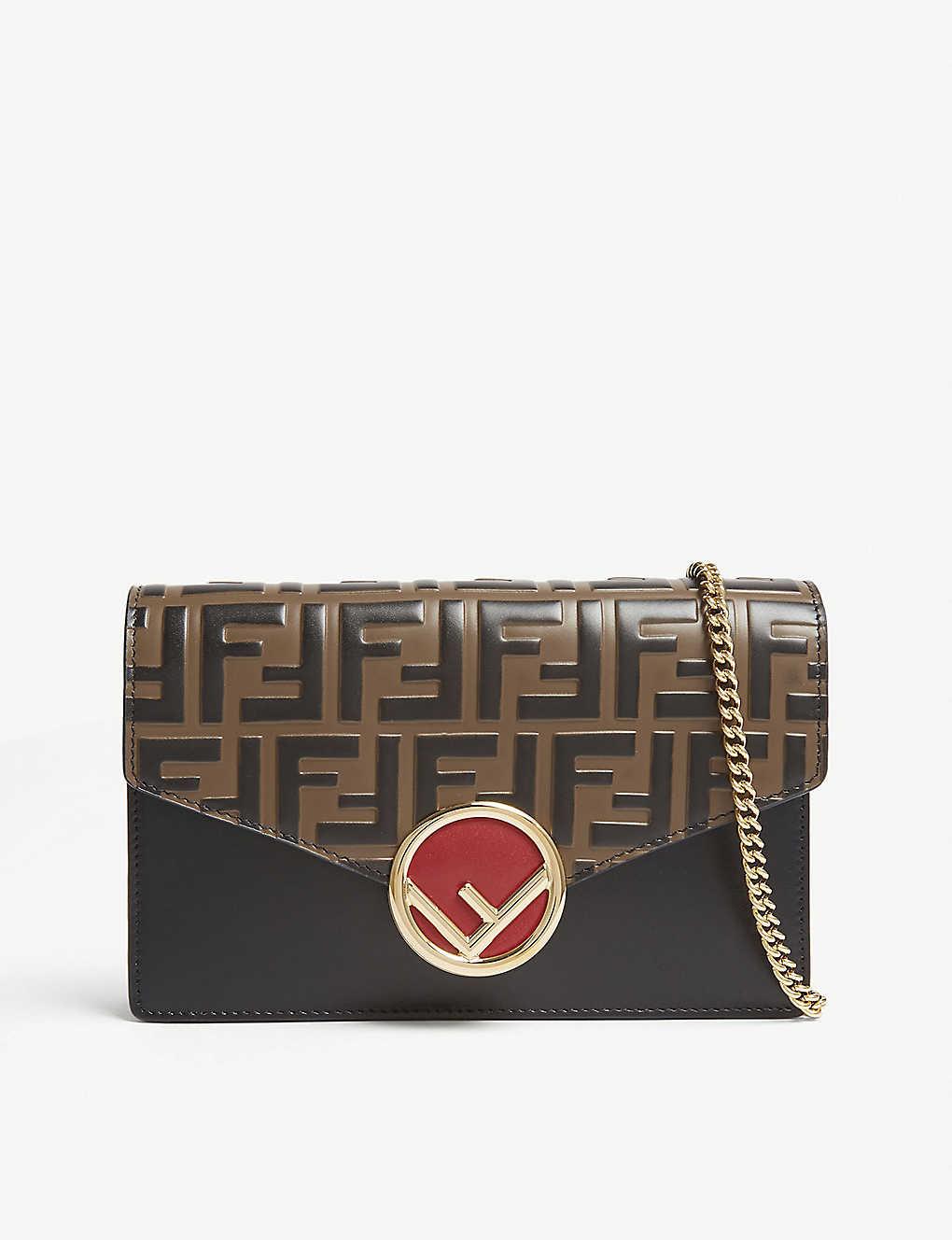 ac1ffa9cb3f6 FENDI - Logo-detailed leather shoulder bag