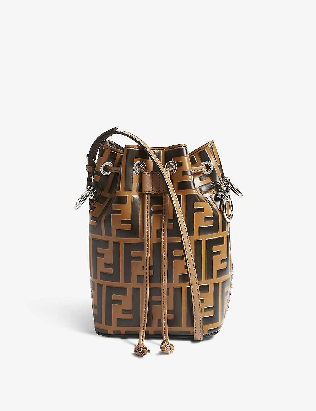 eedca58a037 FENDI - Mon Tresor small leather bucket bag | Selfridges.com