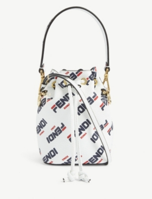 FENDI Fendi mania leather bucket bag