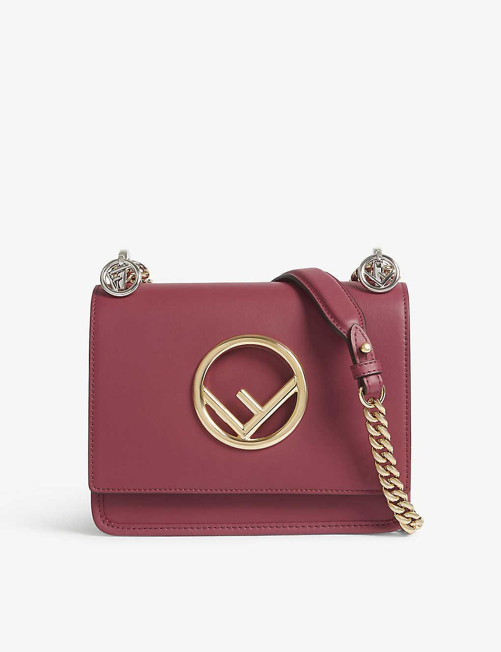 d3d71379c637 FENDI - Kan I small leather cross-body bag | Selfridges.com
