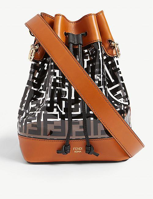 91171e4eb6a0 FENDI PVC medium bucket bag