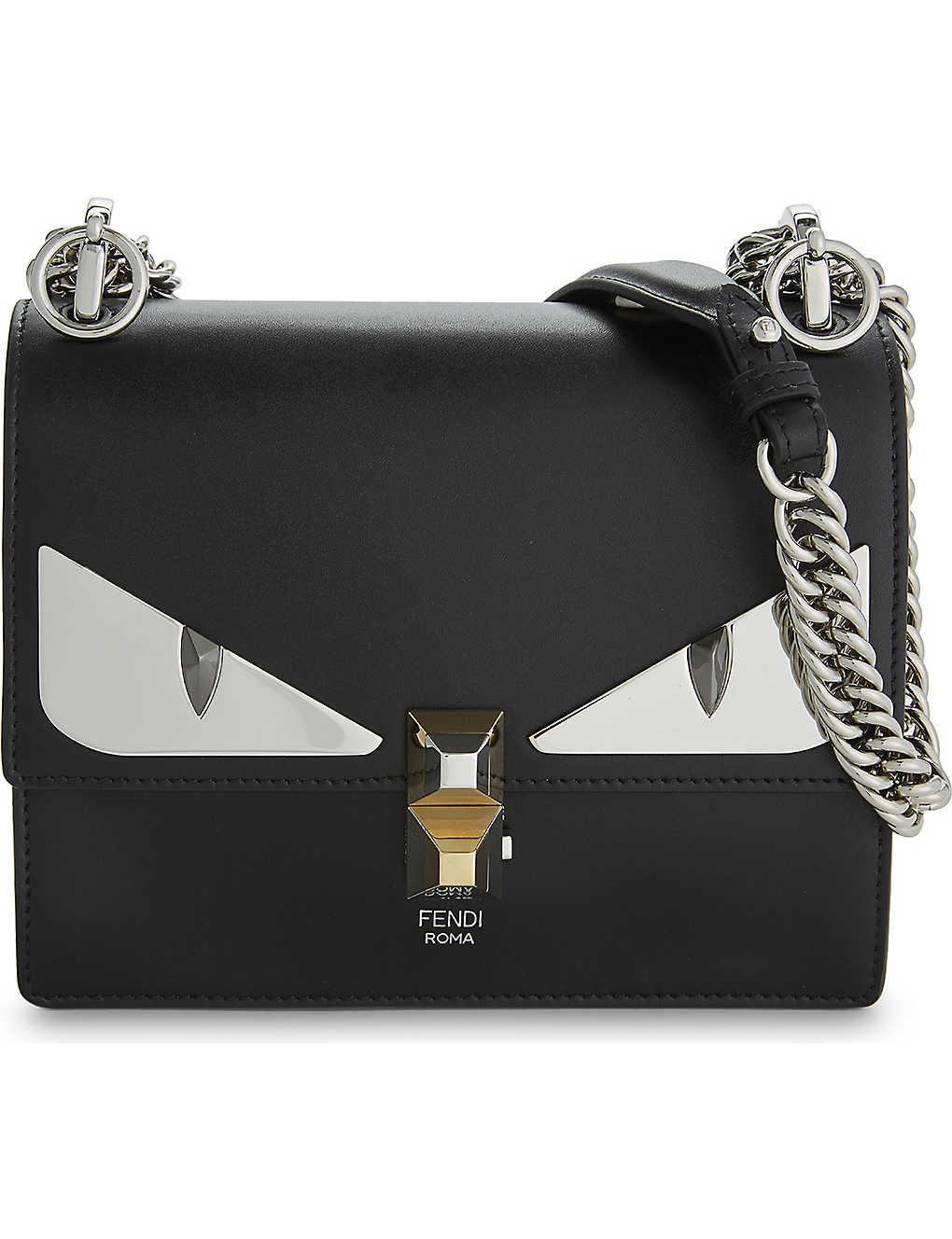 64dda05eb33f FENDI - Kan I monster leather shoulder bag