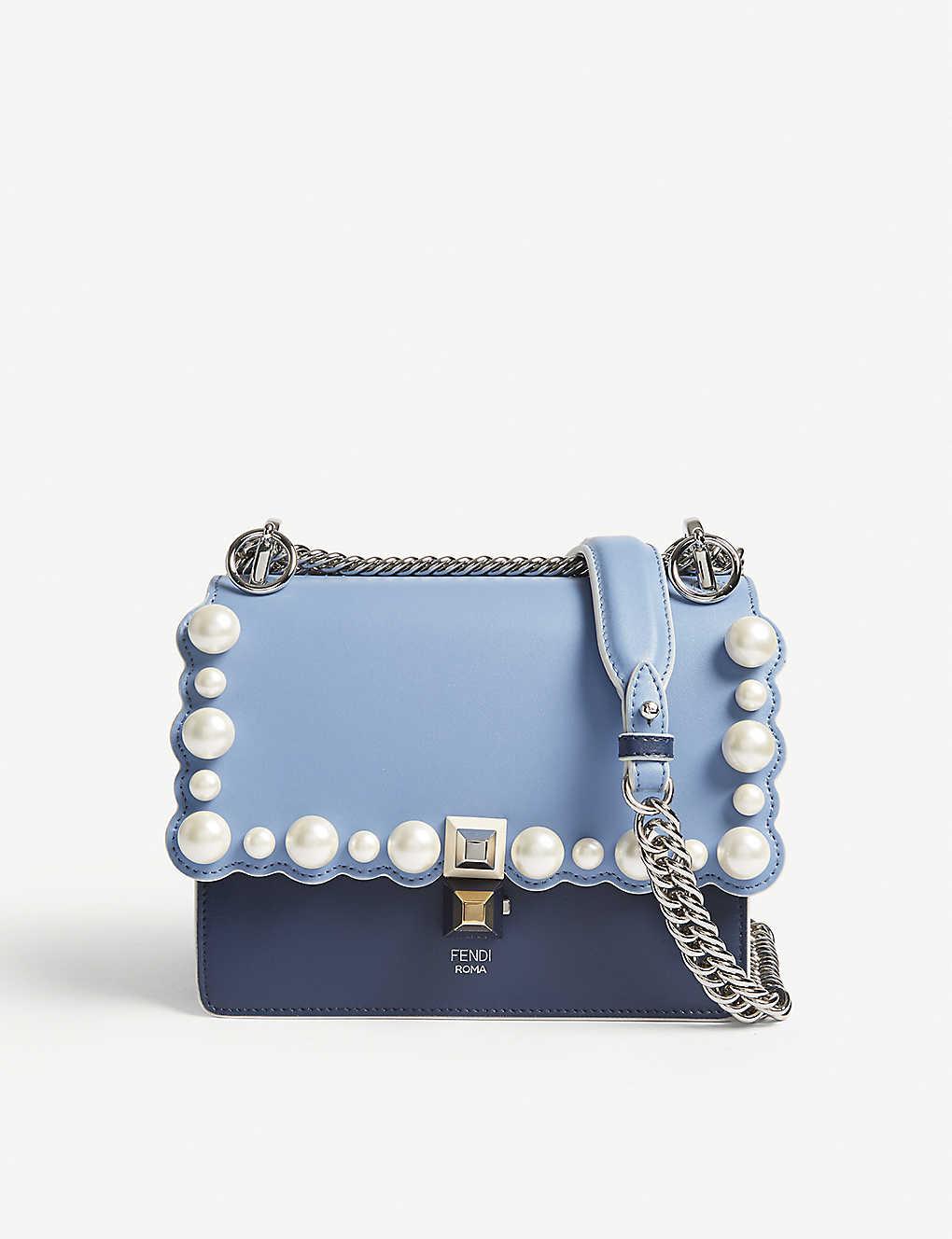 c298e1b62ea1 FENDI - Kan 1 pearl-embellished leather shoulder bag