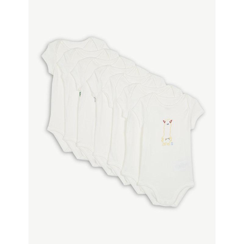 STELLA MCCARTNEY | Days Of The Week Cotton Bodysuits Set Of Seven 1-18 Months | Goxip