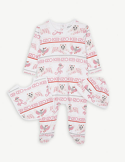 KENZO Animal friends cotton baby set 3-12 months