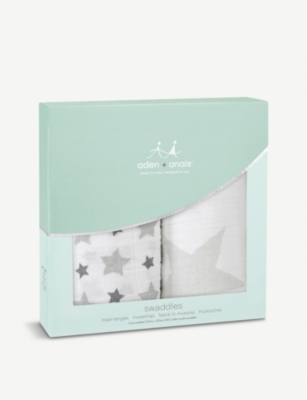 ADEN + ANAIS Set of two Twinkle Twinkle swaddles