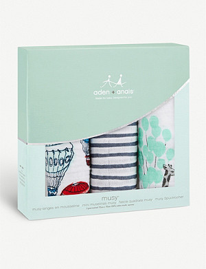 ADEN + ANAIS Pack of three Dream Ride muslin squares
