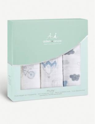 ADEN + ANAIS Set of three Night Sky Reverie muslin squares