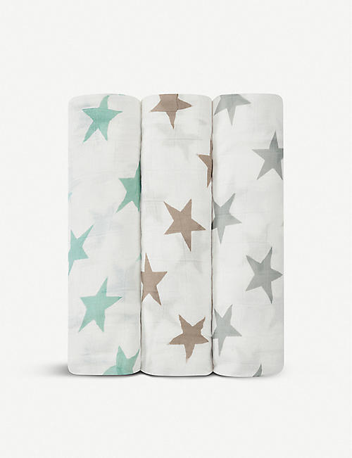 ADEN + ANAIS Set of three bamboo swaddles