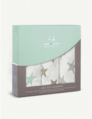 ADEN + ANAIS: Milky Way large bamboo swaddles set of three