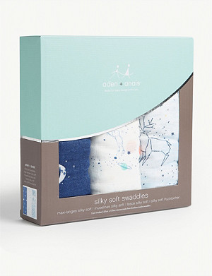 ADEN + ANAIS Stargaze set of three muslin swaddles