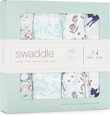 ADEN + ANAIS Set of four Bambi swaddles
