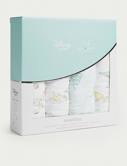 ADEN + ANAIS Disney's The Lion King set of four cotton muslin swaddles