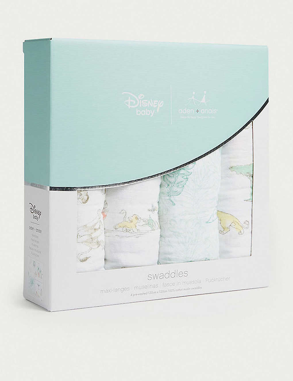 ADEN + ANAIS: Disney The Lion King cotton muslin swaddles pack of four