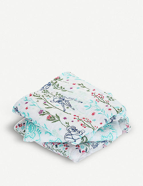 ADEN + ANAIS Set of three Bambi swaddles