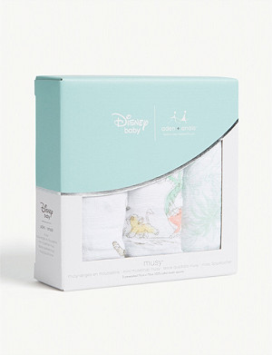 ADEN + ANAIS Disney's The Lion King set of three cotton muslin squares