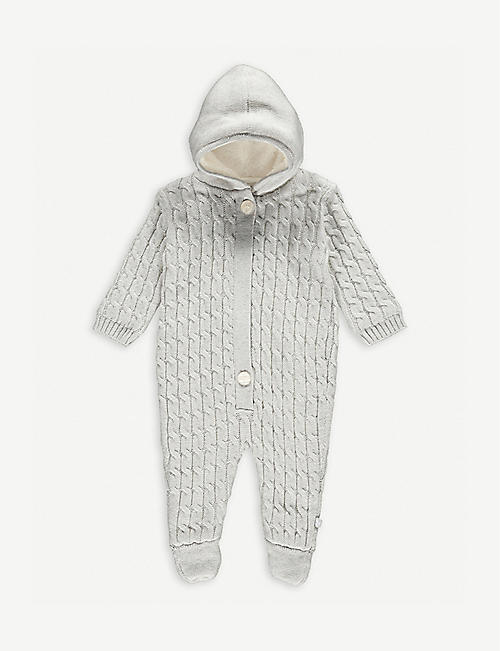 THE LITTLE TAILOR Cable knit cotton babygrow 0-9 months
