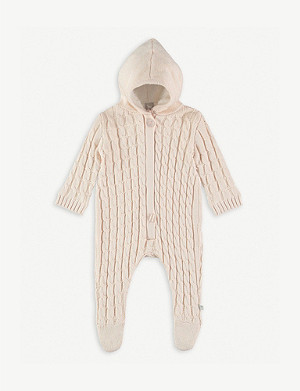 THE LITTLE TAILOR Cable-knit cotton all-in-one 0-12 months