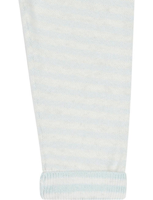 THE LITTLE TAILOR Striped cotton and cashmere-blend leggings 0-12 months