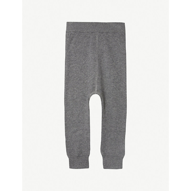 THE LITTLE TAILOR   The Little Tailor Knitted Mix Jogging Bottoms 0-12 Months, Size: 6-9 Months, Charcoal   Goxip