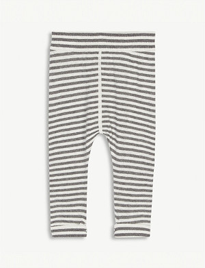 THE LITTLE TAILOR Striped cotton and cashmere-blend bottoms 0-12 months