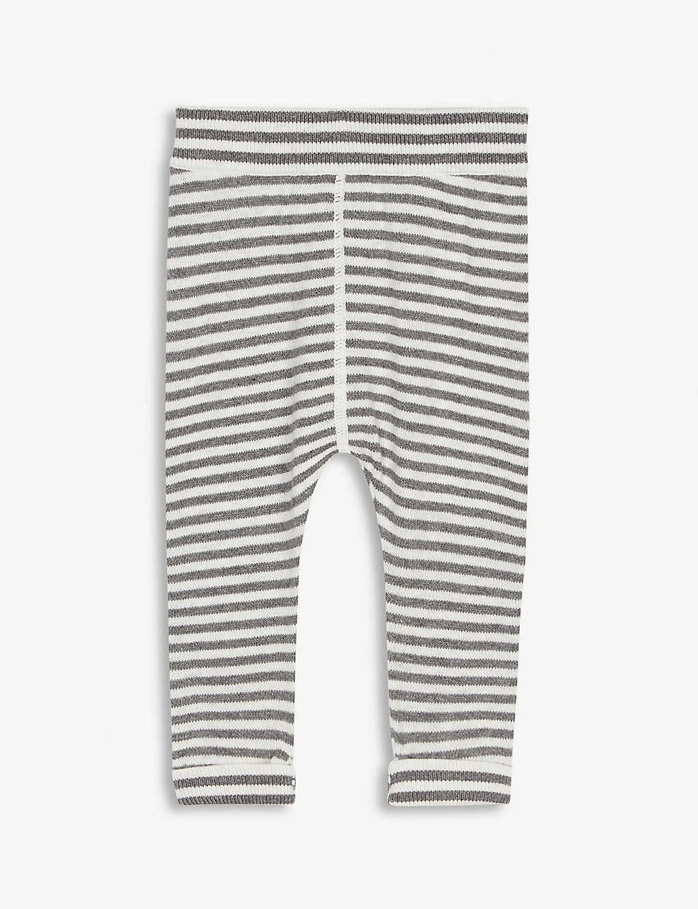 THE LITTLE TAILOR: Striped cotton and cashmere-blend bottoms 0-12 months