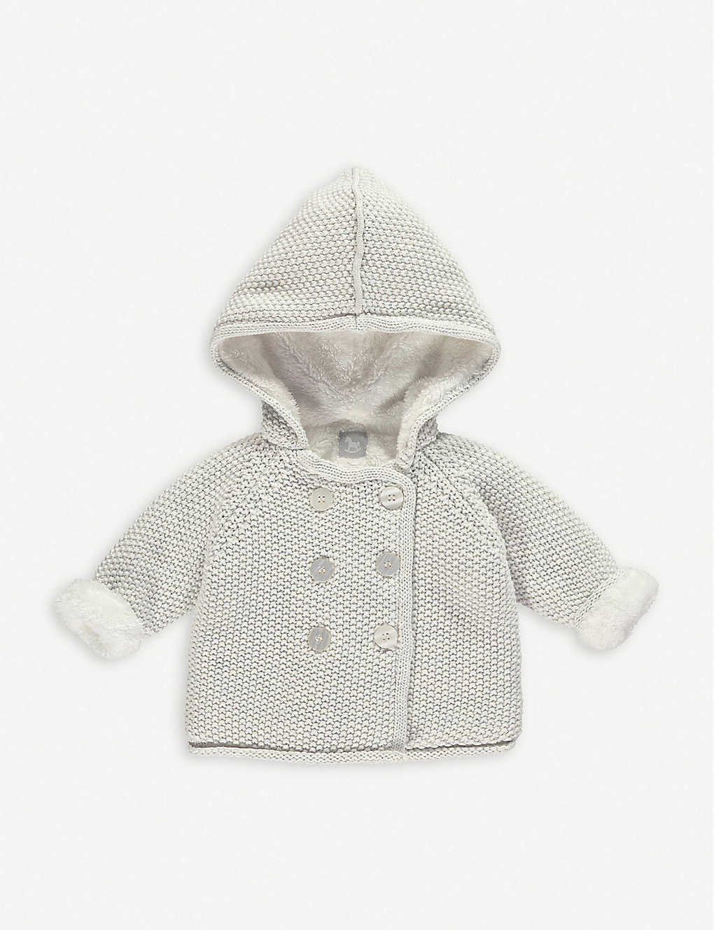 THE LITTLE TAILOR: Knitted cotton pixie jacket 0-12 months