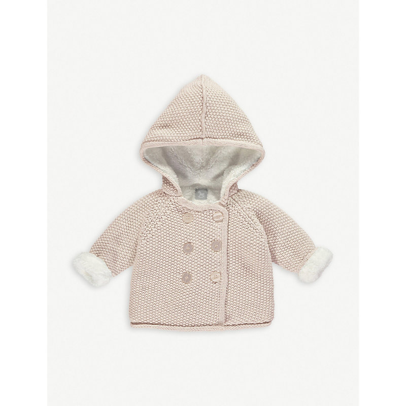 THE LITTLE TAILOR | The Little Tailor Knitted Cotton Pixie Jacket 0-12 Months, Size: 6-9 Months, Pink | Goxip