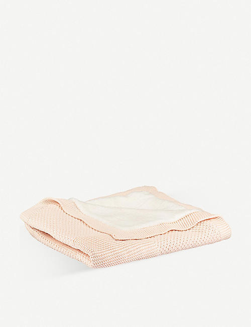 THE LITTLE TAILOR Cable knit fleece blanket