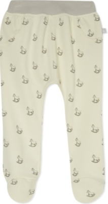 THE LITTLE TAILOR Rocking horse-print jersey trousers 0-9 months
