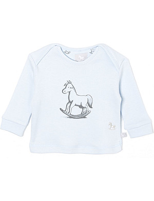 THE LITTLE TAILOR Rocking horse-print cotton jersey 0-9 months